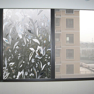 3D Static Cling Decorative Frosted Stained Privacy Glass Window Film 45*100cm
