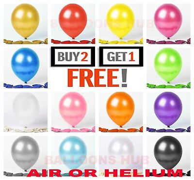 "20 X Latex 10"" PEARL Metallic BALLOONS BALLONS helium  BALOONS Birthday Wedding"