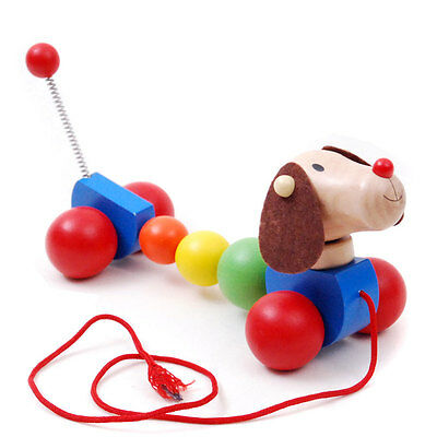 Brand new wooden pull / walk along toy animal - Dog