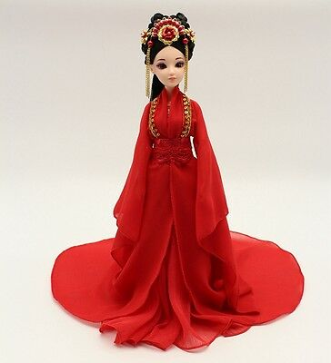 NEW RARE OOAK Chinese Collectible Toy Dolls Ethereal Fairy/Elf RED Free US ship