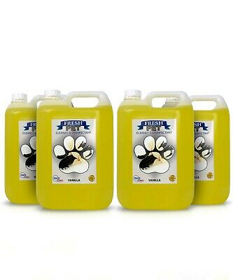 4 X 5L FRESH PET Kennel/Cattery Disinfectant, Cleaner, Deodoriser - VANILLA