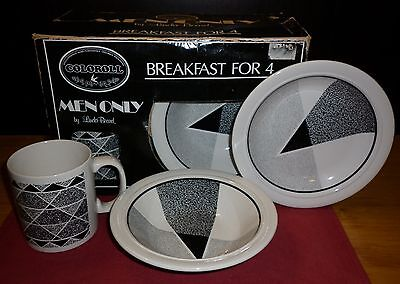 "Fab Boxed Set Staffordshire  ""memphis"" Breakfast Set   Excellent Condition"