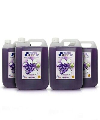 Fresh Pet Disinfectant Cleaner Animal Safe 4 X 5L Lavender Prefilled