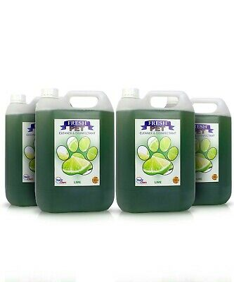 Fresh Pet Disinfectant Cleaner Animal Safe 4 X 5L  Lime Prefilled