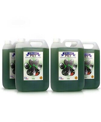 Fresh Pet Disinfectant Cleaner Animal Safe 4 X 5L Pine Prefilled