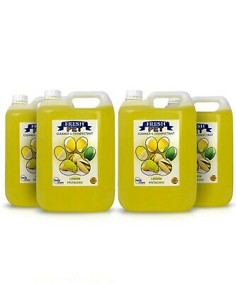 Fresh Pet Disinfectant Cleaner Animal Safe 4 X 5L  Lemon Pistachio Prefilled