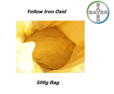 Bayer - Yellow Iron Oxide Powder Cosmetic Pure Soap  Colour Pigment 500g