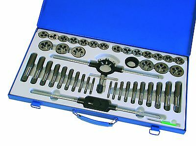 45pc Tap & Die Set Tungsten Alloy Steel Metric Threading Tool M6-M24 Hilka