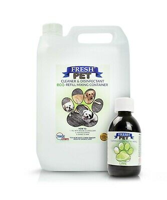 5L FRESH PET Kennel Cattery Disinfectant, Cleaner, Deodoriser - LIME
