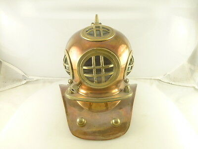 Vintage Copper and Brass Mini Scuba Diving Bell Helmet Gear 7""