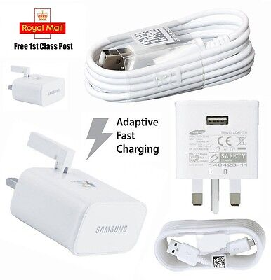 Genuine For Samsung Charger Wall Plug & Cable For Samsung Galaxy S7 S6 Note 4 5