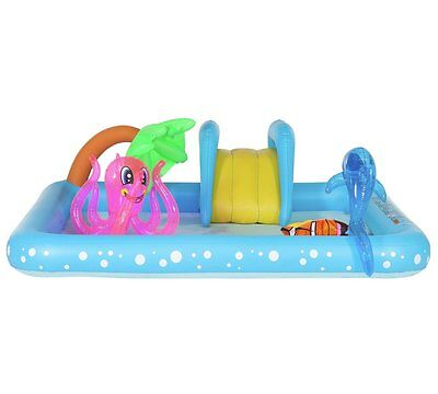 Chad Valley Aquarium Easy Inflate Activity Pool - 7FT Kids Enjoy The Summer