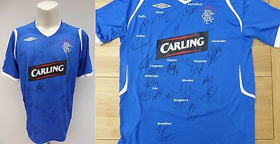 2008-09 Rangers Home Shirt Signed by League & Cup Double Winning Squad (10361)