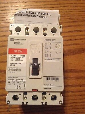New Cutler Hammer FD3030 Circuit Breaker Type FD 35K  3 pole 30 amp 600 volt