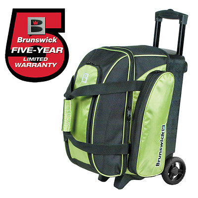 Brunswick Gear Lime Green 2 Ball Roller Bowling Bag