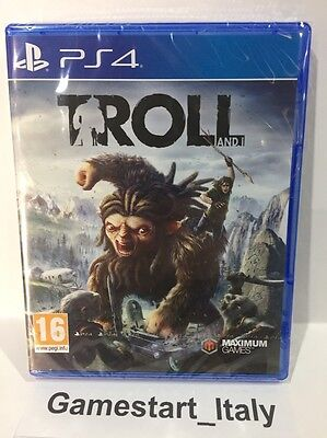 Troll And I Sony Ps4 Videogioco Nuovo Sigillato New Sealed Pal Playstation 4