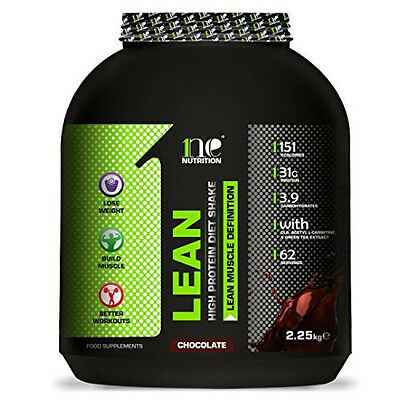 Lean Chocolate Whey Protein Supplement Weight Control Meal Replacement Shake NEW