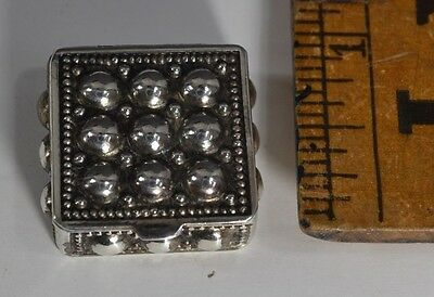 silver box sterling miniature 1 in. hinged top doll house antique vintage