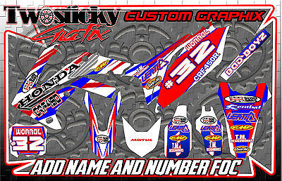 Honda Crf 125/150/250/450  Motocross Mx Graphics Stickers   All Years