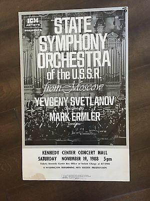 "14"" X 22"" Poster of the ""State Symphony Orchestra of the USSR"""