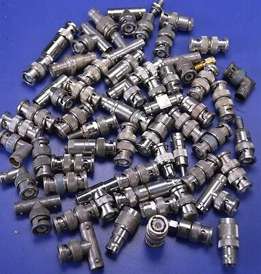 46 BNC Plug To Plug Straight Adapters, BNC Tee's, Right-Angle Connectors, 50 Ohm