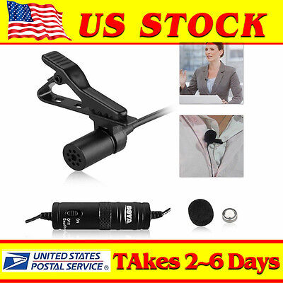BOYA BY-M1 DSLR Camera Lavalier Condenser  Microphone for Camcorder Iphone