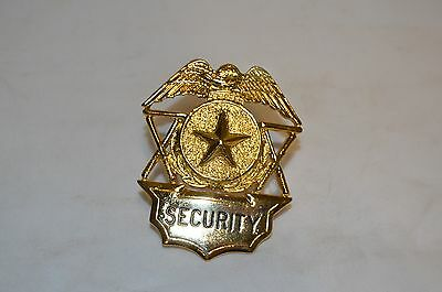 Obsolete Security Officer Guard Badge Hat Device Gold