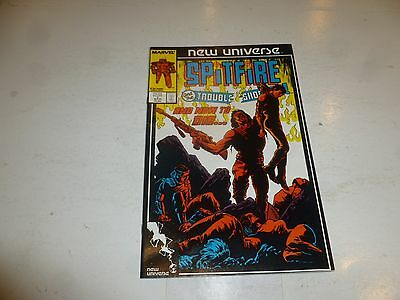 SPITFIRE & THE TROUBLESHOOTERS Comic - Vol 1  No 7 - Date 04/1987 - Marvel Comic