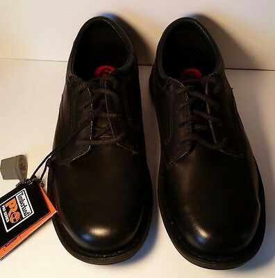 Nwt Men's Timberland Pro® Gladstone Esd Steel Toe Black Work Shoes - 5.5W