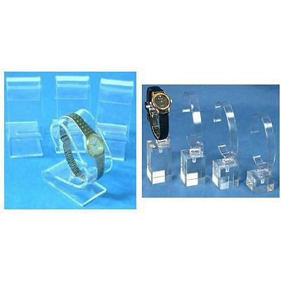Clear Acrylic Watch Stands & Riser Showcase Countertop displays Kit 8 Pcs