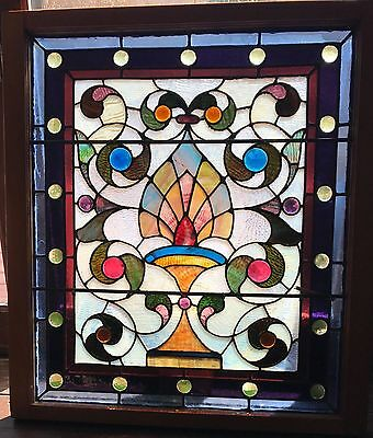 Wonderful jeweled stained glass window