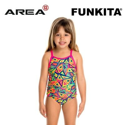 Funkita Crazy Crayon Toddler Girls Printed One Piece , Toddler Girls One Piece S