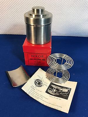 Nikor Stainless Steel Film Developing Tank with 1 120 Film Spool/Loader/inst/box