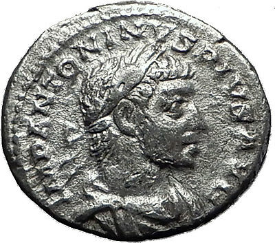 ELAGABALUS  221AD Rome Rare Genuine Authentic Silver Roman Coin Liberty i60415