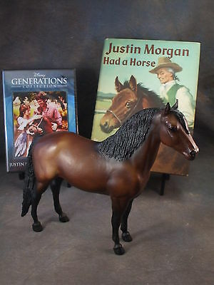 **JUSTIN MORGAN** Breyer horse model, w/Lovely HARDCOVER book... SIGNED & DVD!