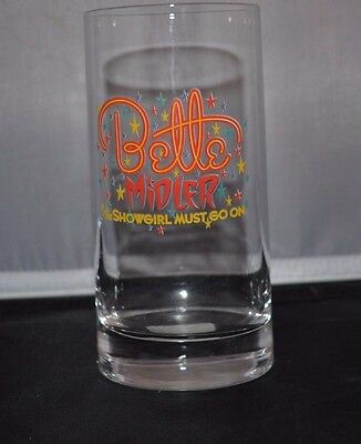 Bette Midler The Showgirl Must Go On Highball Glass NWT