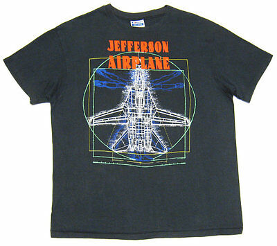 """VINTAGE 80s """"JEFFERSON AIRPLANE"""" ROCK T SHIRT. MADE IN USA. EXC. M"""