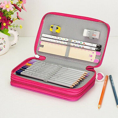Student Drawing Sketching Pencil Two Zipper Layers Case Bag for 32 Pencils Witty