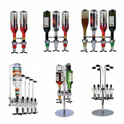 2/4/6 Bottle Stand wall mounted Holder Dispenser wine racks holder bar optics