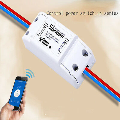 Hot WiFi Wireless Smart Switch Module ABS Shell Socket for DIY Home
