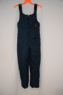 Walls Blizzard Pruf Insulated Overalls /Bibs men's blue full leg zip 34 X 30 USA