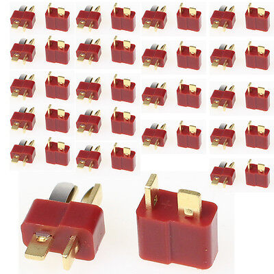40Pcs 20 Pairs T Plug Male & Female Deans Connectors Style For RC LiPo Battery