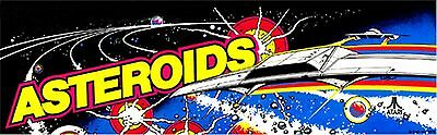 Asteroids arcade machine marquee, rolled up in tube, brand new