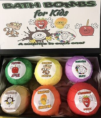 KIDS BATH BOMBS with SURPRISE TOY INSIDE! including TEDDY GOATS MILK SOAP!