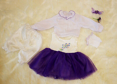 Set of Reborn Doll Baby 's Girl Clothes for 22'' Baby Dress, NOT Included Doll