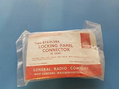 New General Radio Locking Panel Connector 874-Pl58A