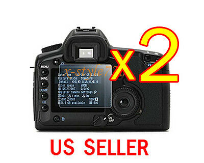 2x Clear LCD Screen Protector Guard Film For Canon EOS 40D 50D 5D 5D II