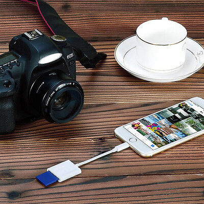 Lightning to SD Card Camera Reader Adapter For iPhone 6 6s Plus iPad 4 Mini New