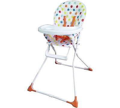 BabyStart Folding Highchair - Multicoloured Spots