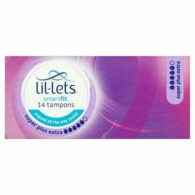 Lil-Lets Smartfit 14 Tampons Super Plus Extra 1 2 3 6 Packs